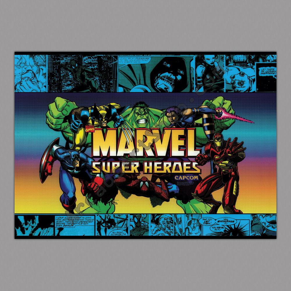 Poster marvel super heroes v2 500x700mm arcade art shop - Poster super heros ...