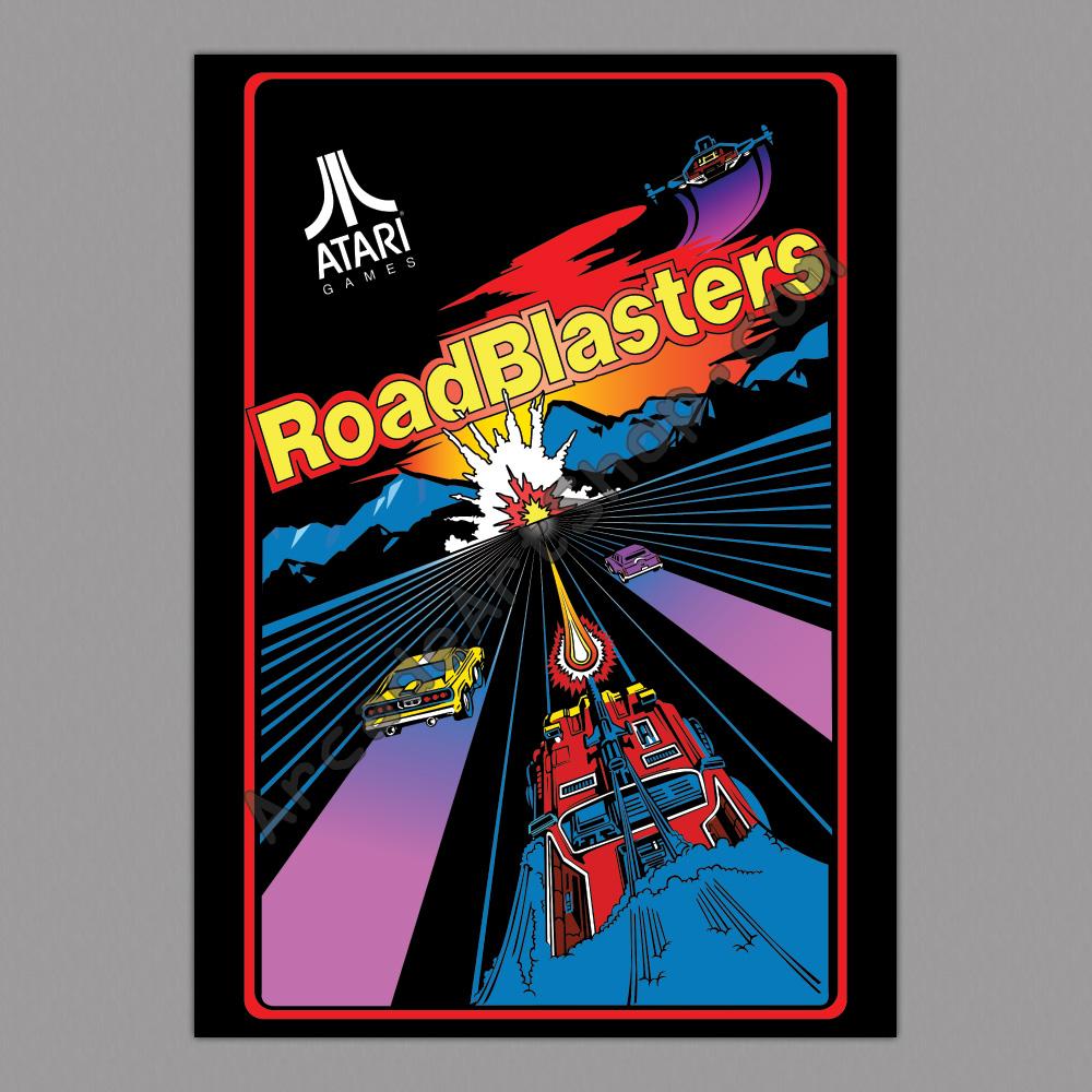 Roadblasters Atari Large Arcade Poster 50x70cm Arcade