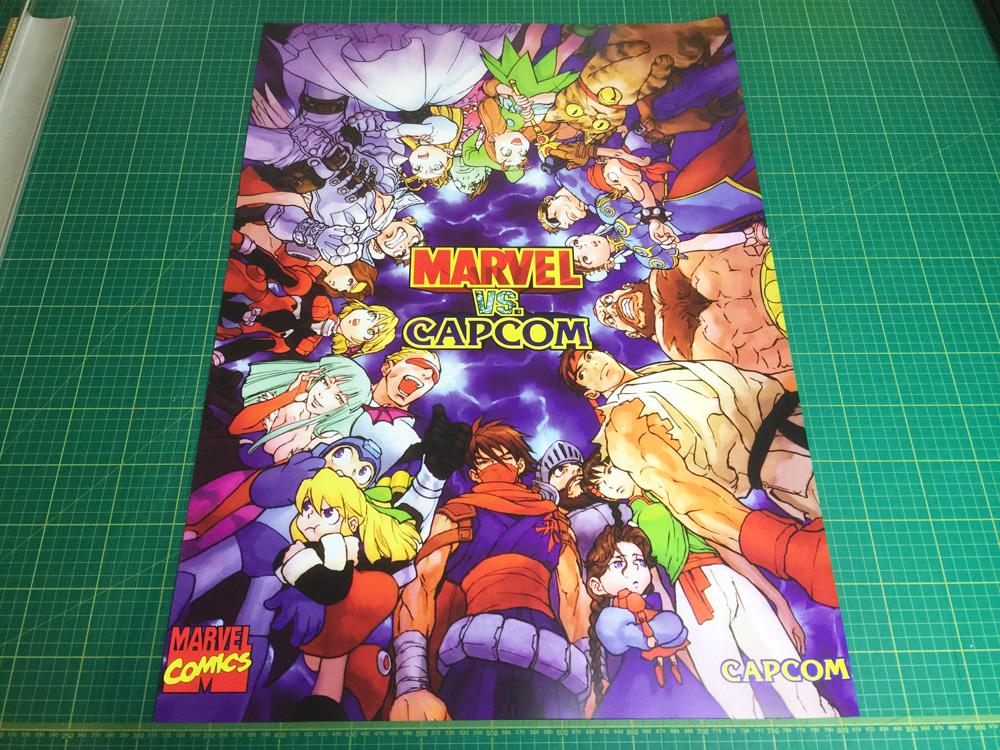 Marvel Vs Capcom (Ver 2) large arcade Poster 50x70cm