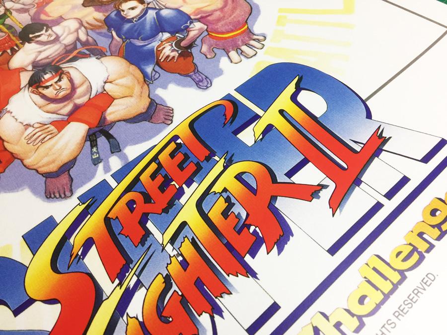 Super Street Fighter 2 Capcom large arcade Poster 50x70cm
