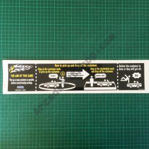 Crazy Taxi bezel instructions