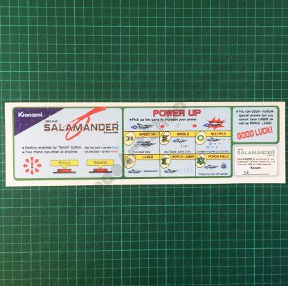 Salamander instruction decal
