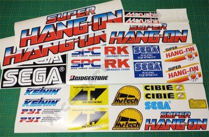 super hang on sega sticker set