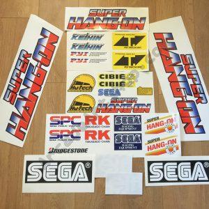 Super Hang-On sticker set