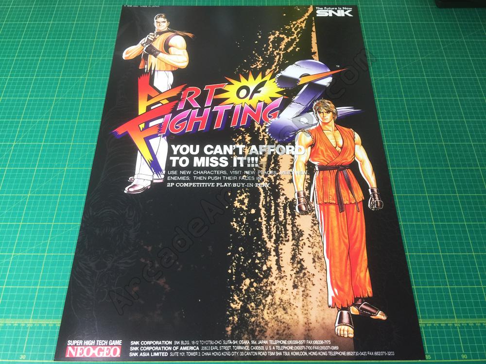 Art Of Fighting 2 Snk Neo Geo Mvs Large Arcade Poster 50x70cm Arcade Art Shop