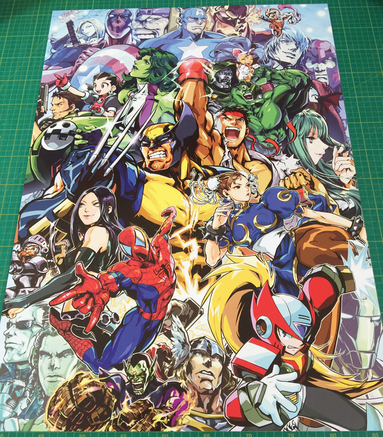 Marvel Vs  Capcom 3 large arcade Poster 50x70cm