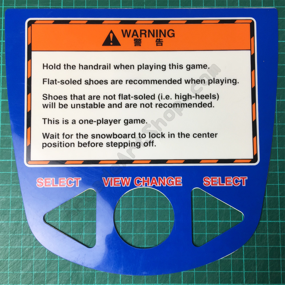 Alpine Surfer instruction decal