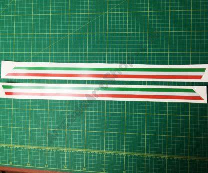 Silver Foil OutRun 2 line stripes pair