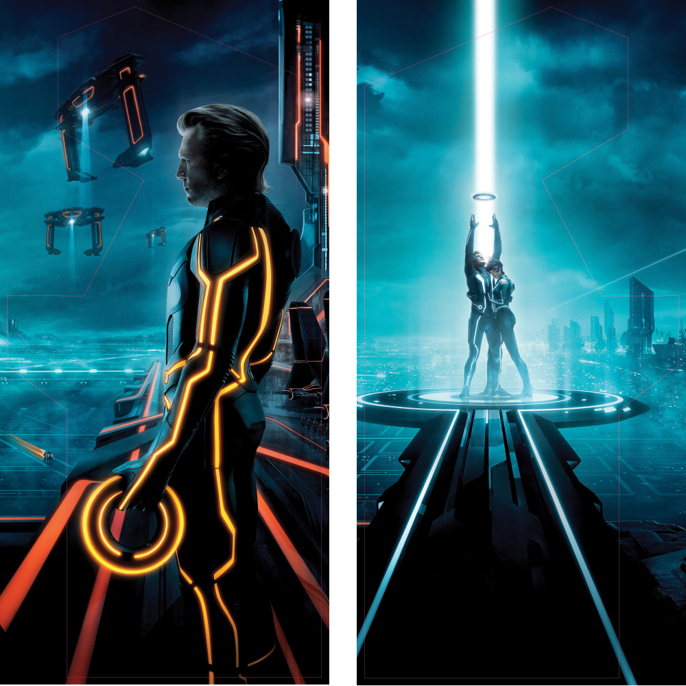 tron legacy full print side art – arcade art shop