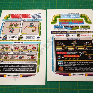 Mario Bros. cocktail instruction decal set English