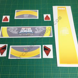 Afterburner Climax seat decal set