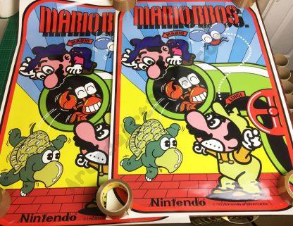 Mario bros side art pair
