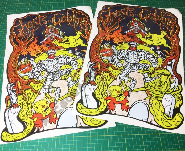 Ghosts n Goblins side art pair
