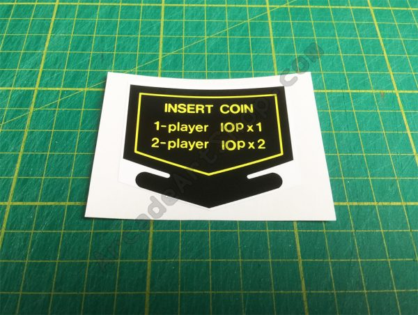 Nintendo Insert Coin decal UK 10p