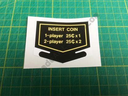 Nintendo Insert Coin decal 25 cents