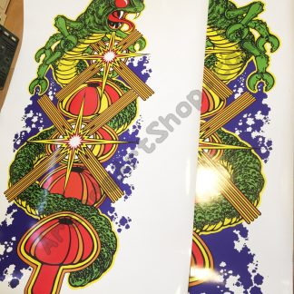 Centipede side art pair USA