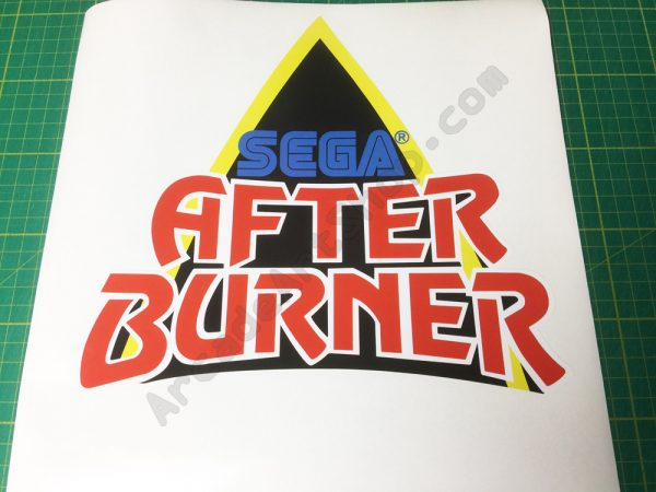 afterburner logo decal monitor bezel