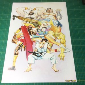 Street Fighter 2 pencil poster