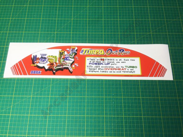Turbo OutRun map sticker