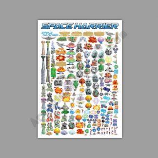 Space Harrier pixel art poster