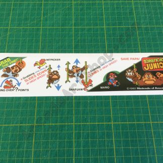 DK Jr. instruction strip decal