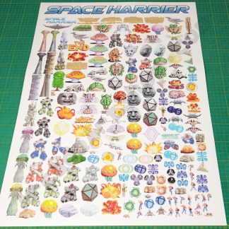 space harrier sprites poster