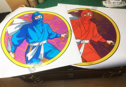 Ninja Warriors side art pair