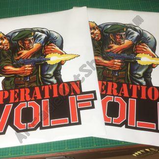 Operation Wolf side art pair