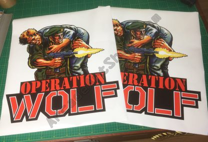 Operation Wolf side art pair