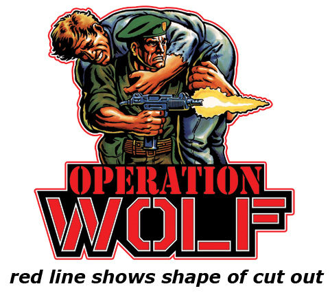 All Sizes Operation Wolf Graphic Arcade Artwork Marquee Stickers Graphic Wall Decals Stickers Home Garden Rgcollege Com