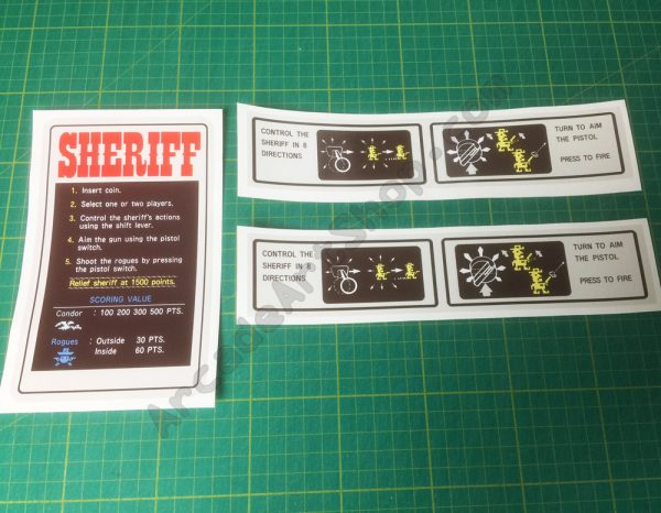 Sheriff nintendo cocktail decal set