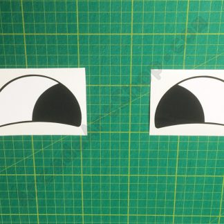 final furlong horses eyes decals
