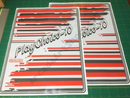 Nintendo Playchoice-10 side art pair