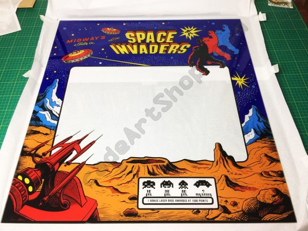 Space Invaders perspex bezel Midway