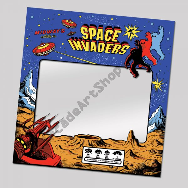 Midway Space Invaders perspex bezel