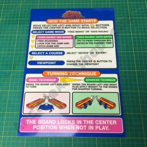 Alpine Surfer instruction decal nos