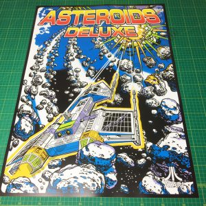 Asteroids Deluxe large arcade poster