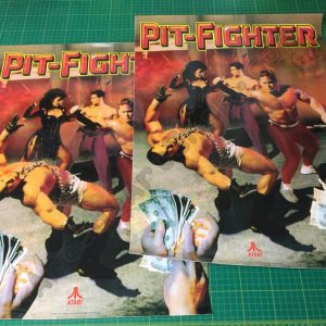Atari Pit Fighter side art pair