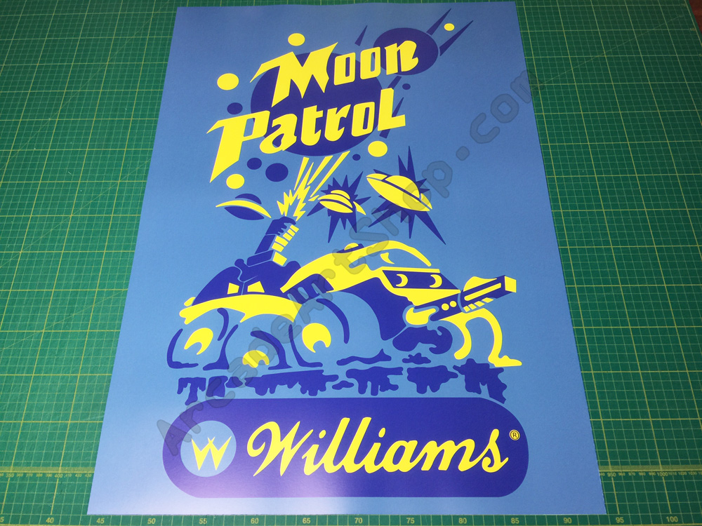 Moon Patrol large arcade poster 50x70cm