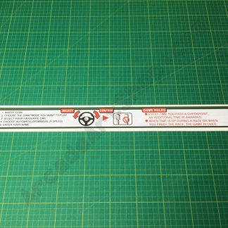 Sega Rally 2 monitor bezel instruction decal