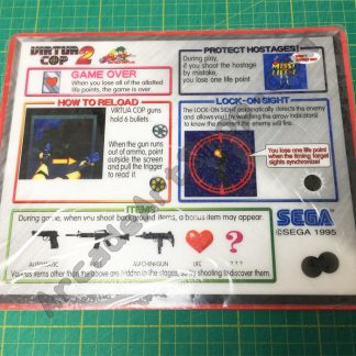Virtua Cop 2 nos instruction decal