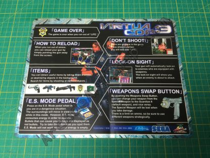 Virtua cop 3 nos instruction decal