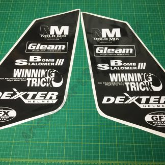 Manx TT bike side art logo decals