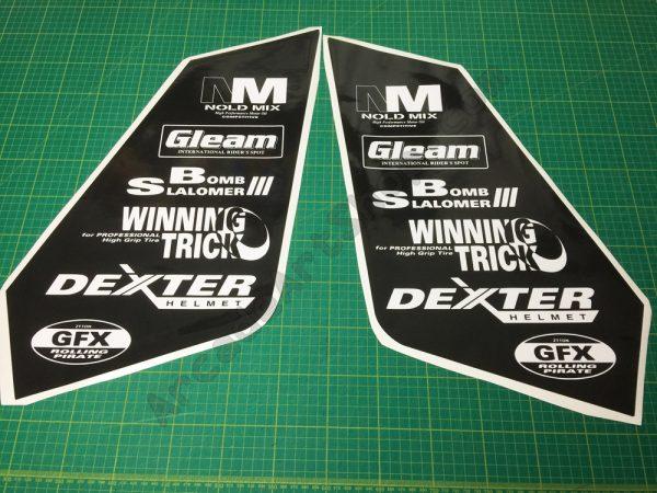 Manx TT bike side art logo decals