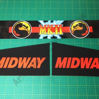 Mortal Kombat 2 box front and side decals