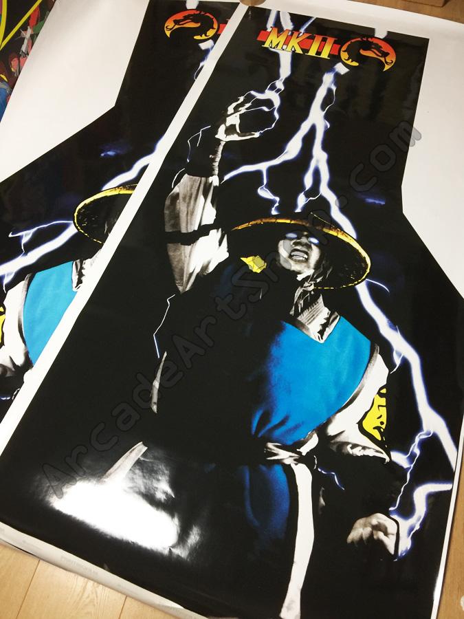 Mortal Kombat Ii Side Art Pair Uk Euro Cabinet Arcade