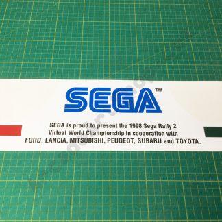 Sega Rally 2 topper centre decal SRT-0207-B
