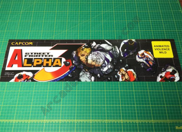Street Fighter Alpha 3 marquee
