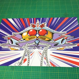 Galaga kickplate front panel artwork