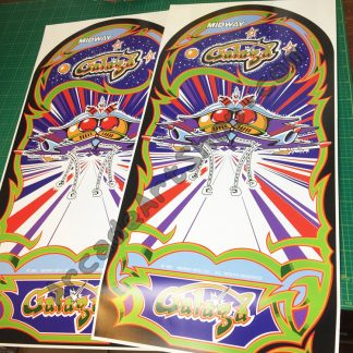 Galaga side art pair